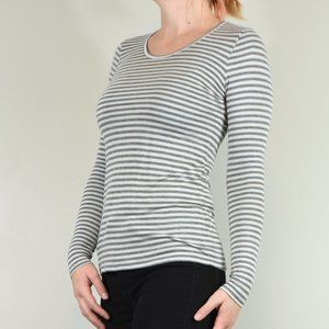 Eileen Fisher Stripe Long Sleeve Tee Size S